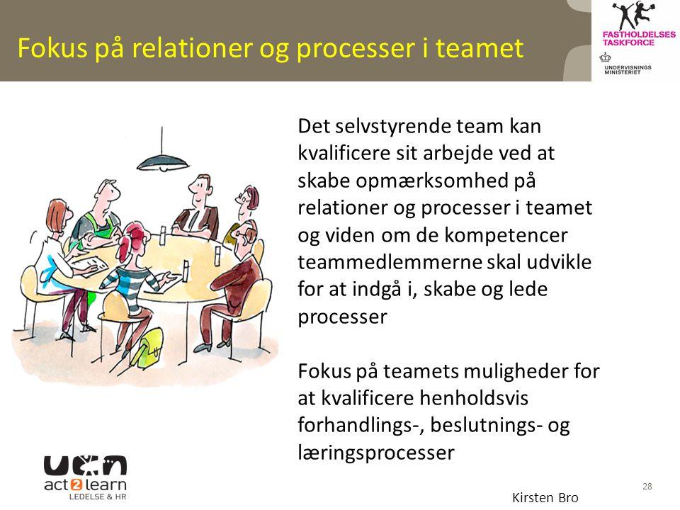 Fokus på relationer og processer i teamet