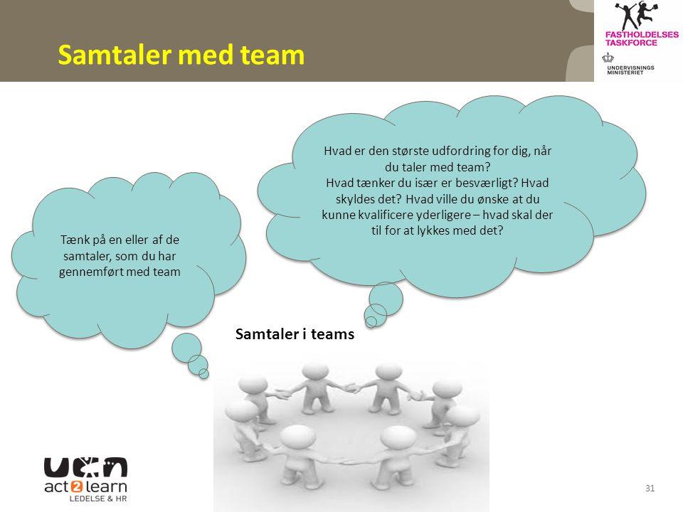 Samtaler med team Samtaler i teams