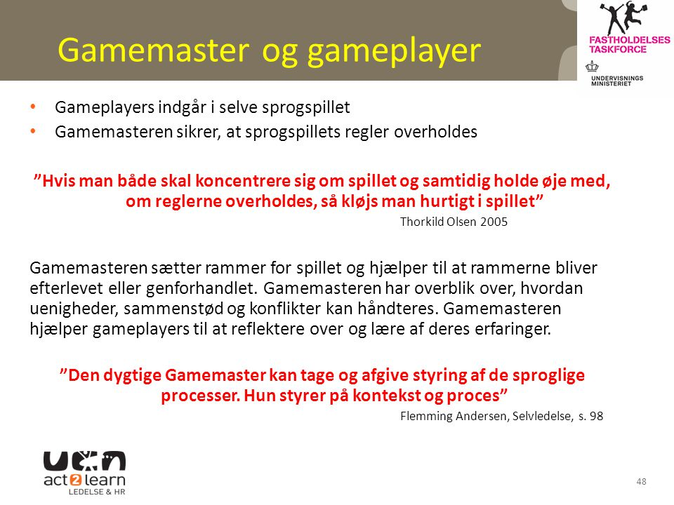 Gamemaster og gameplayer