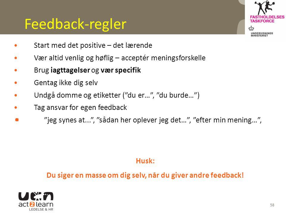 Du siger en masse om dig selv, når du giver andre feedback!