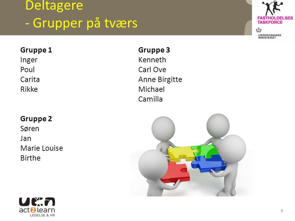 Deltagere - Grupper på tværs