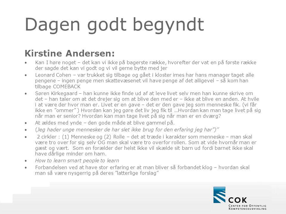 Dagen godt begyndt Kirstine Andersen: