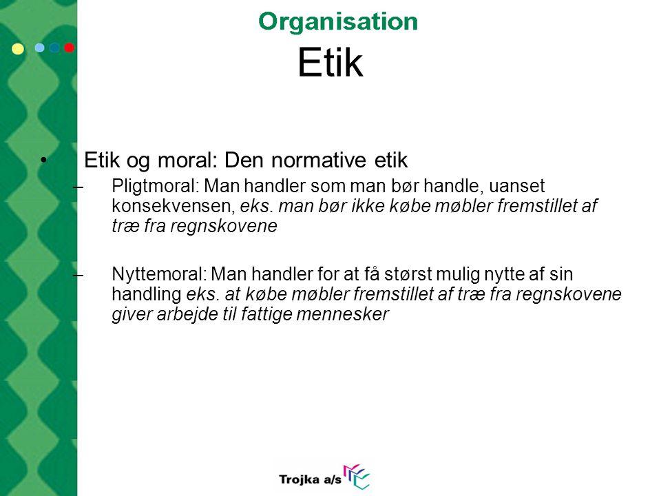 Etik Etik og moral: Den normative etik