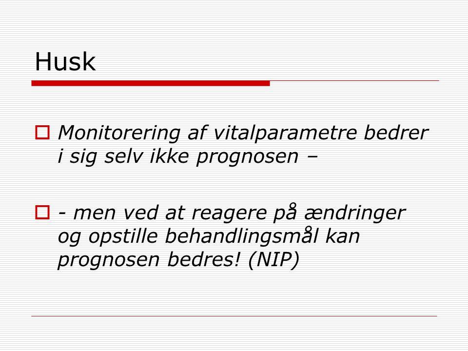 Husk Monitorering af vitalparametre bedrer i sig selv ikke prognosen –