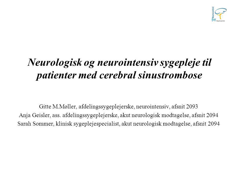 Gitte M.Møller, afdelingssygeplejerske, neurointensiv, afsnit 2093