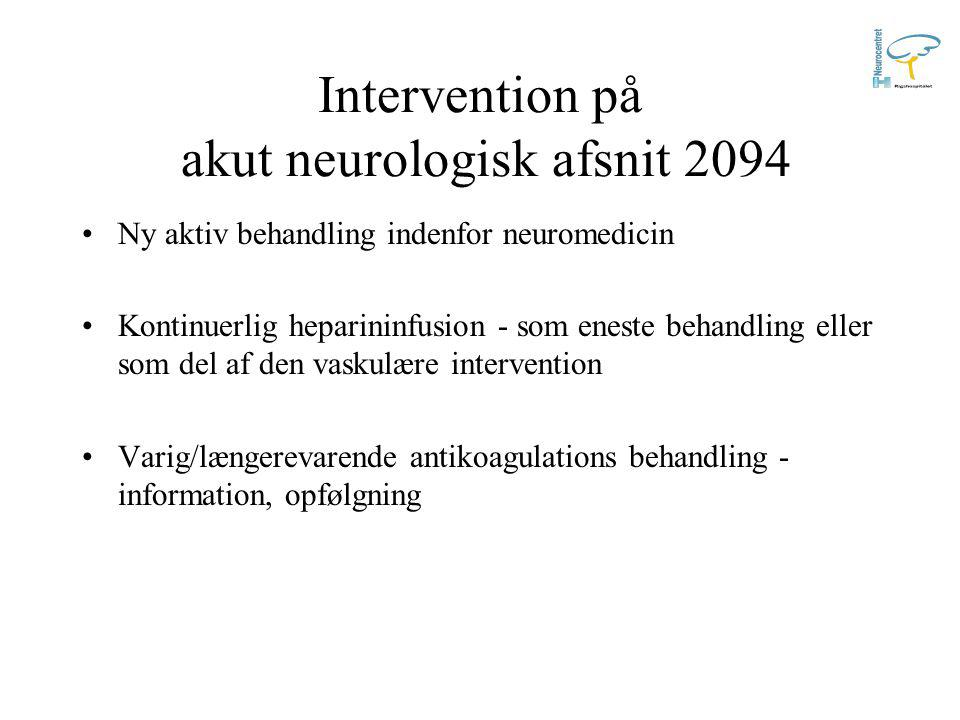 Intervention på akut neurologisk afsnit 2094