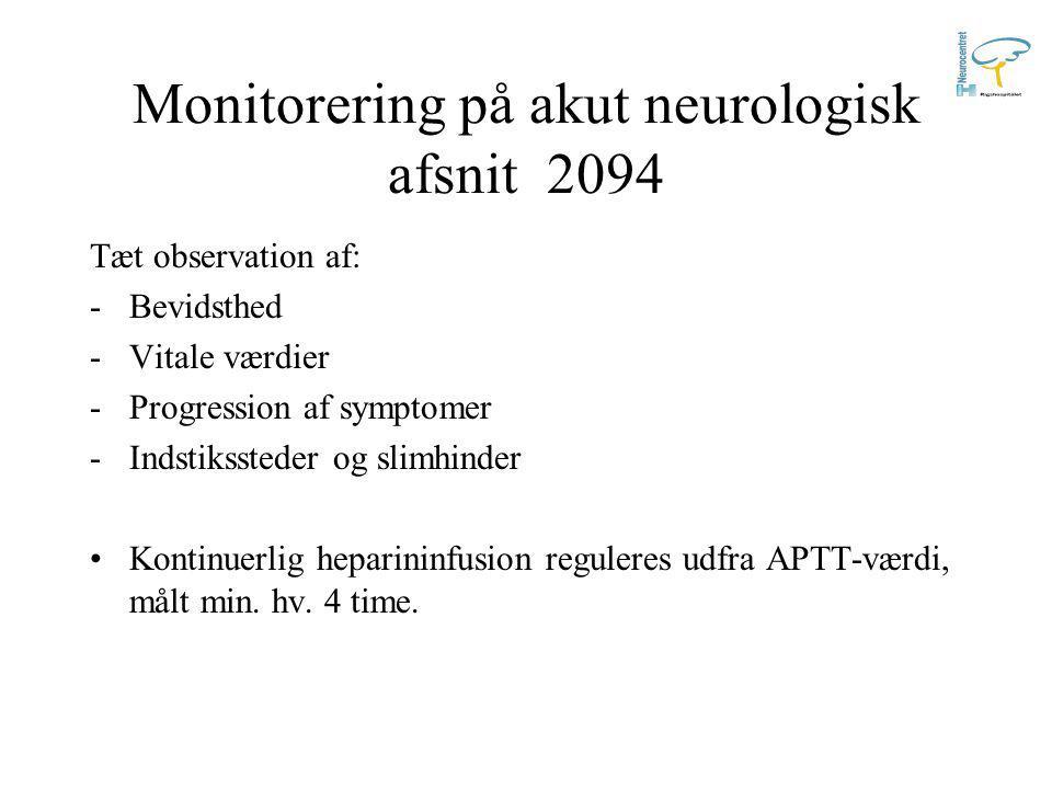 Monitorering på akut neurologisk afsnit 2094