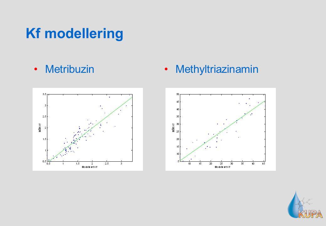 Kf modellering Metribuzin Methyltriazinamin