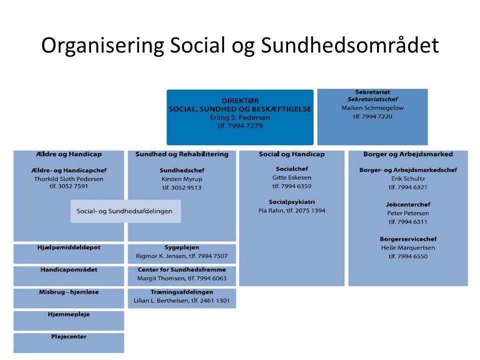 Organisering Social og Sundhedsområdet