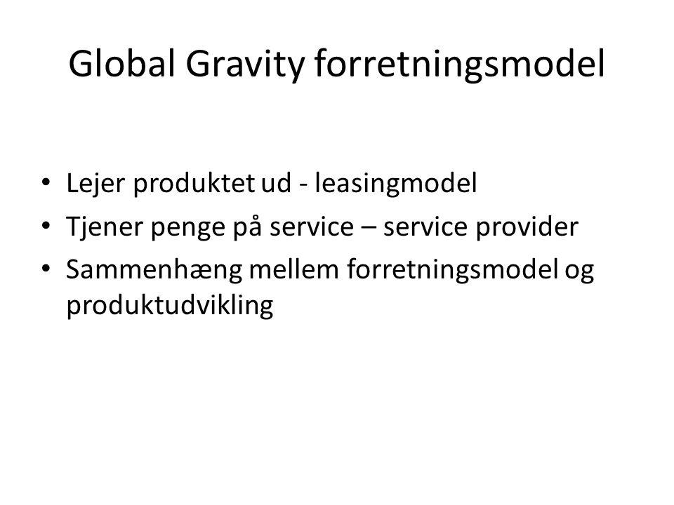 Global Gravity forretningsmodel