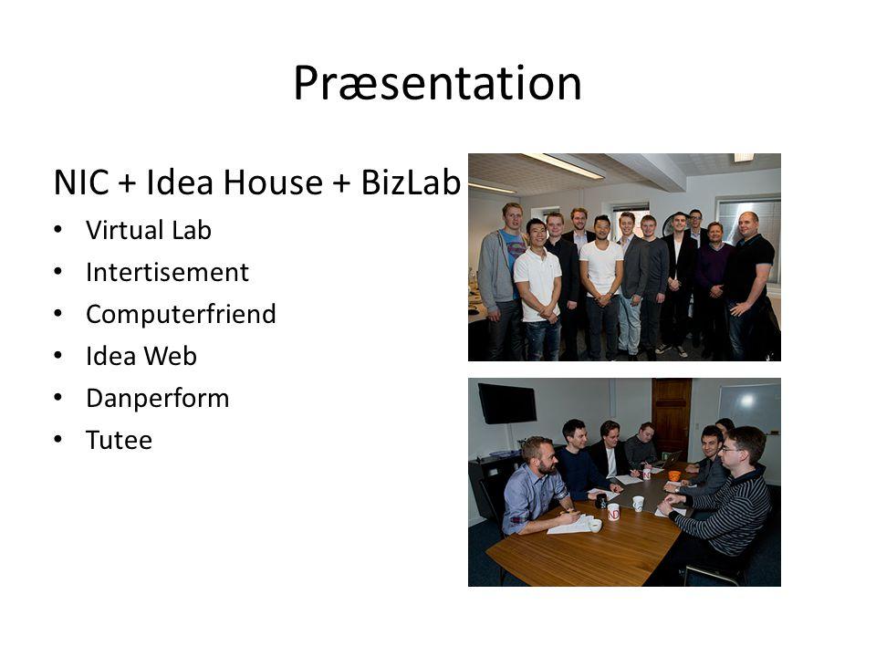 Præsentation NIC + Idea House + BizLab Virtual Lab Intertisement