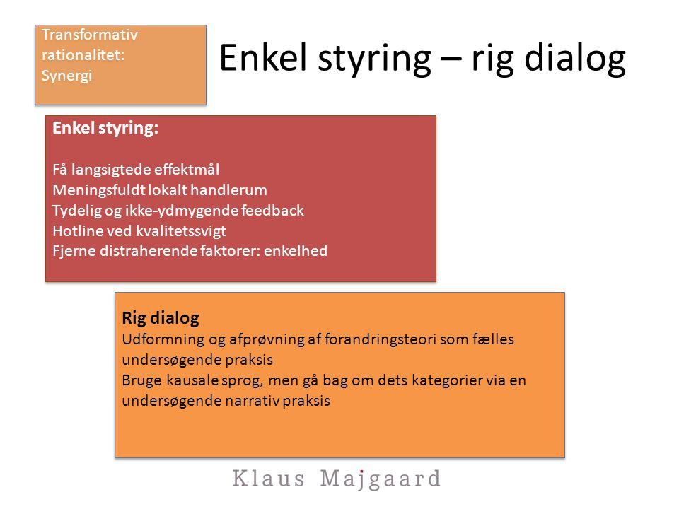 Enkel styring – rig dialog