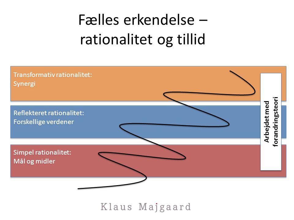 Fælles erkendelse – rationalitet og tillid