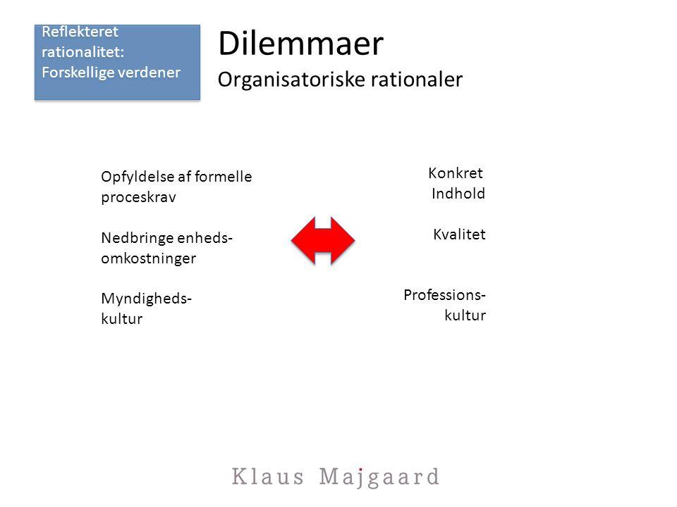 Dilemmaer Organisatoriske rationaler