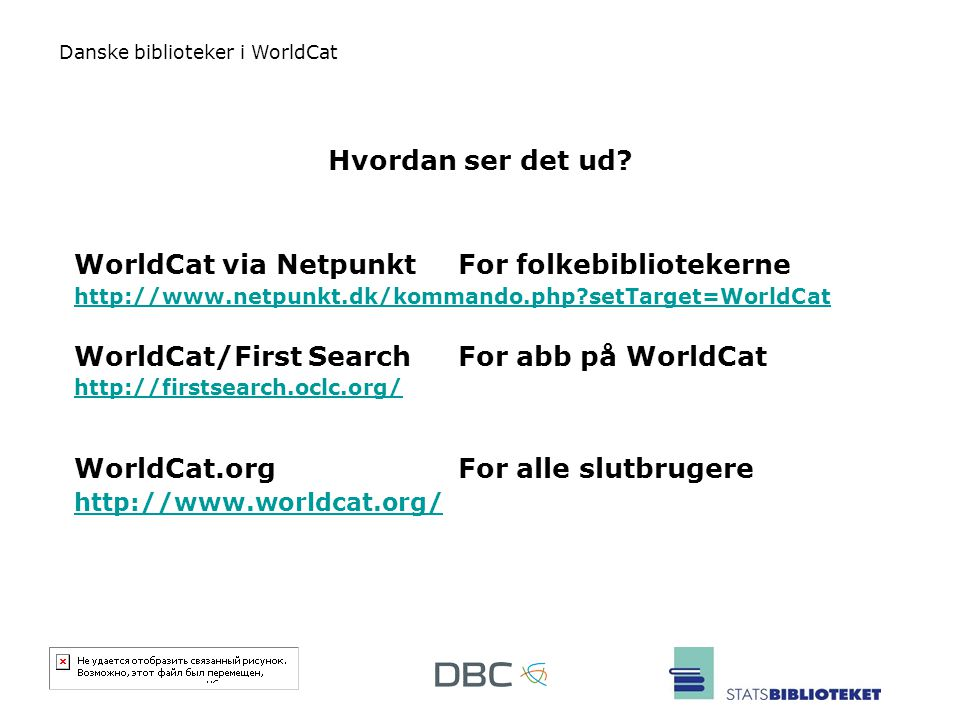 WorldCat via Netpunkt For folkebibliotekerne