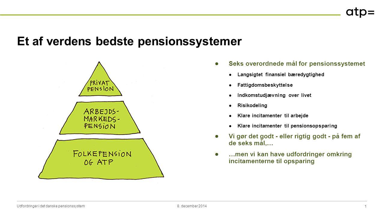 Pensionsindkomstens sammensætning i dag…