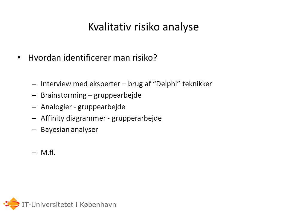 Kvalitativ risiko analyse