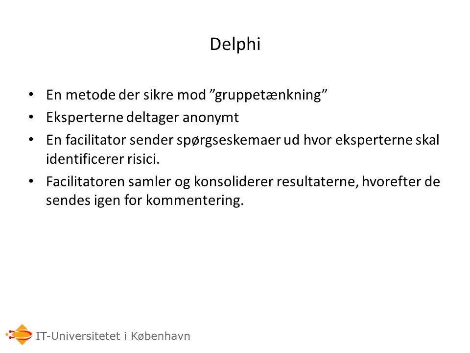 Delphi En metode der sikre mod gruppetænkning