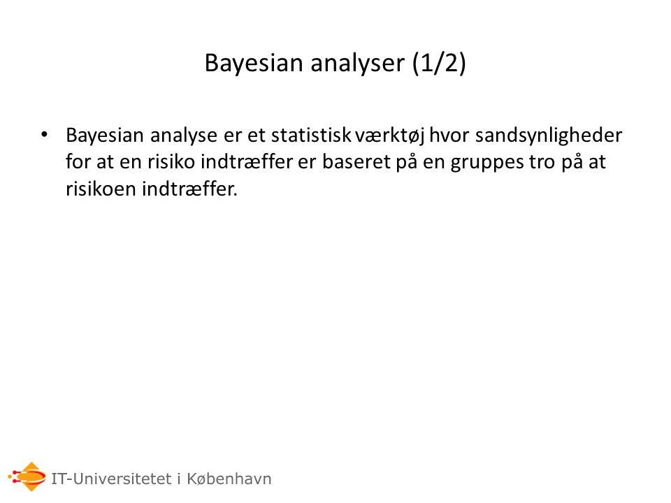 Bayesian analyser (1/2)