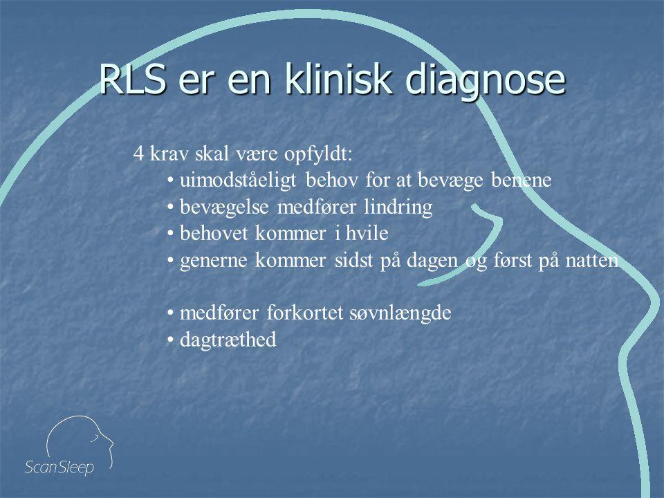 RLS er en klinisk diagnose
