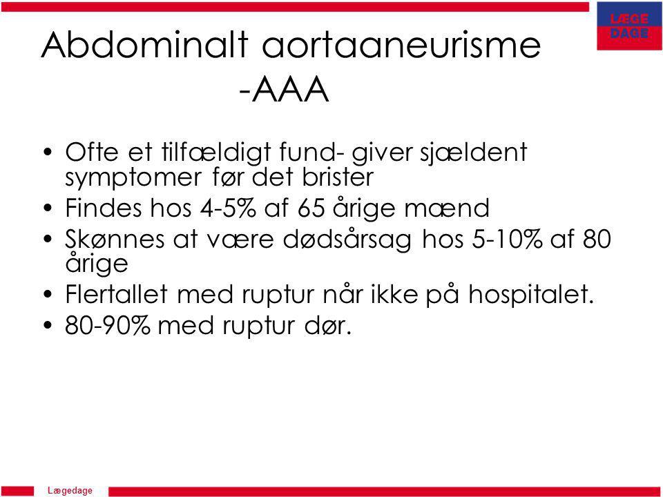 Abdominalt aortaaneurisme -AAA