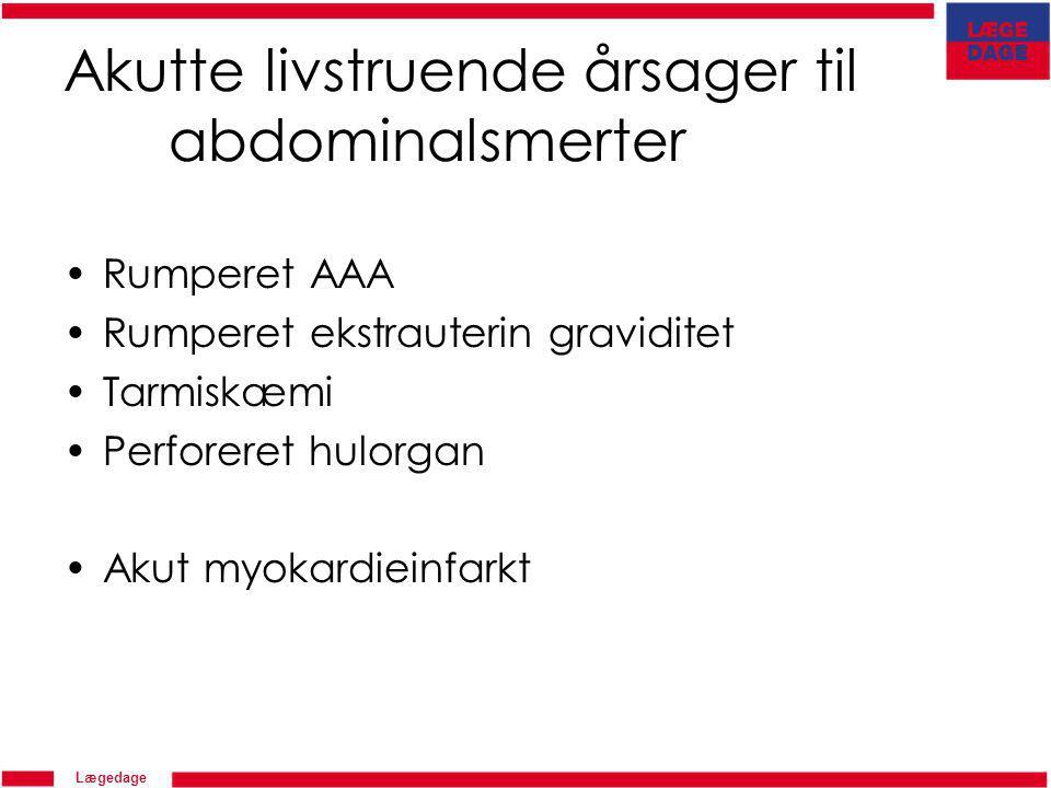 Akutte livstruende årsager til abdominalsmerter