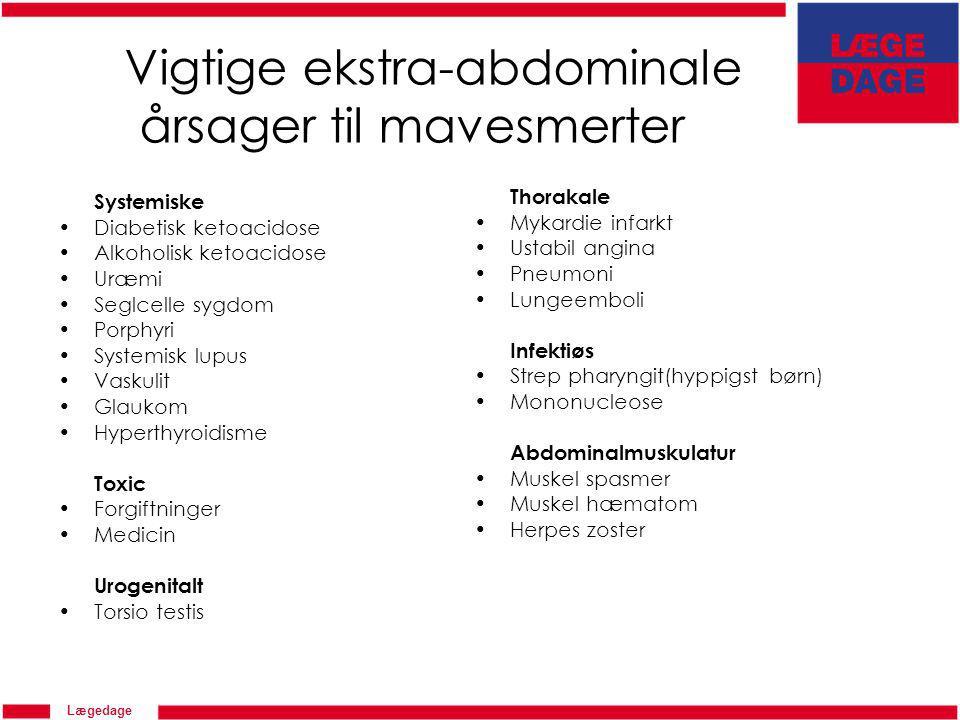 Vigtige ekstra-abdominale årsager til mavesmerter