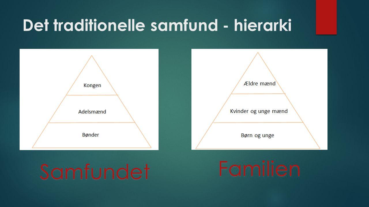 Det traditionelle samfund - hierarki