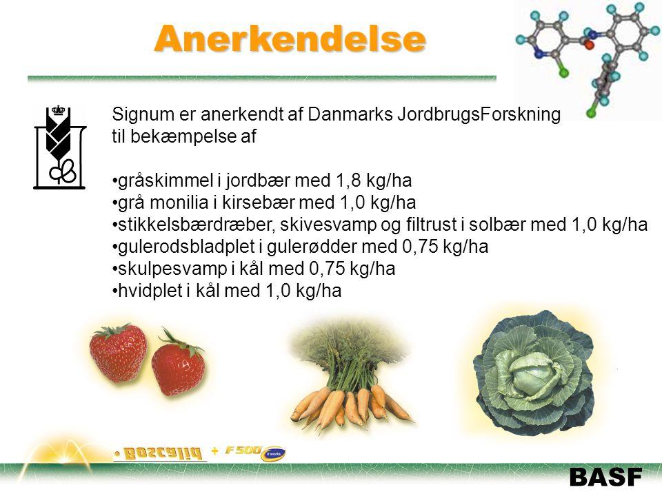 Anerkendelse Signum er anerkendt af Danmarks JordbrugsForskning
