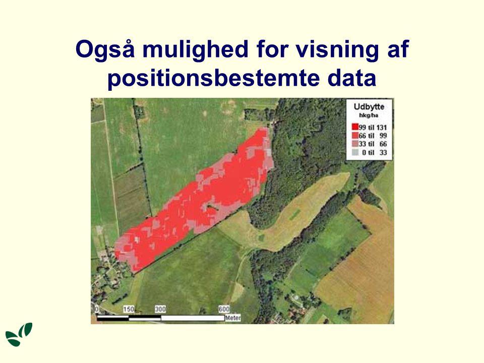 Også mulighed for visning af positionsbestemte data