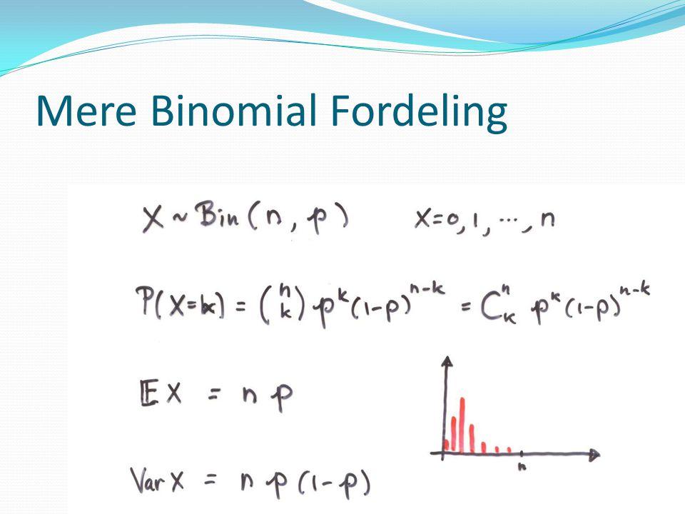 Mere Binomial Fordeling