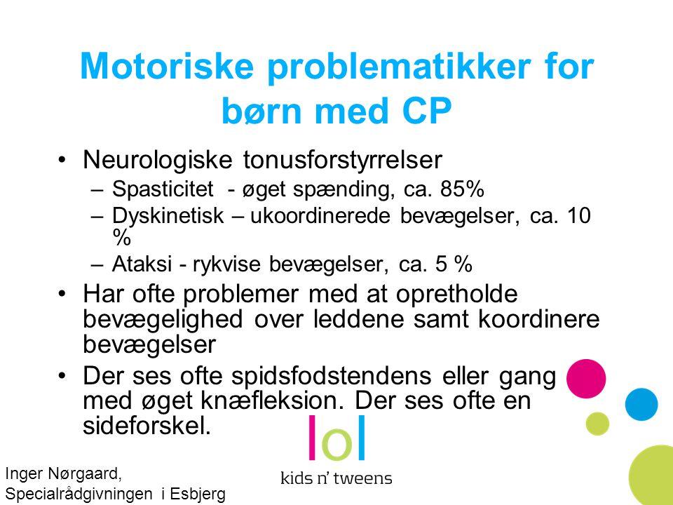 Motoriske problematikker for børn med CP