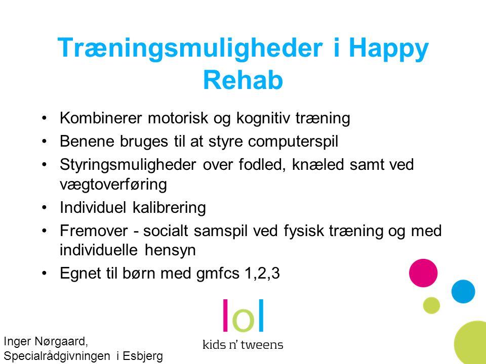 Træningsmuligheder i Happy Rehab