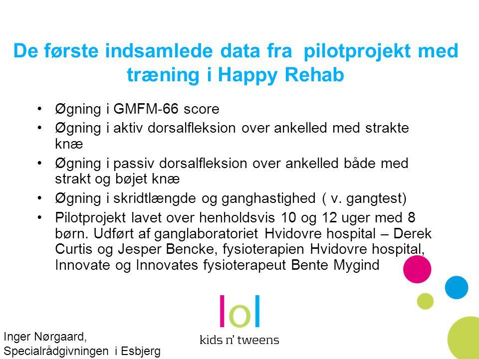 De første indsamlede data fra pilotprojekt med træning i Happy Rehab