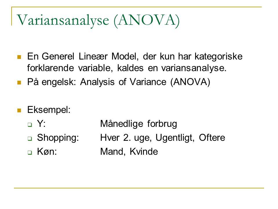 Variansanalyse (ANOVA)