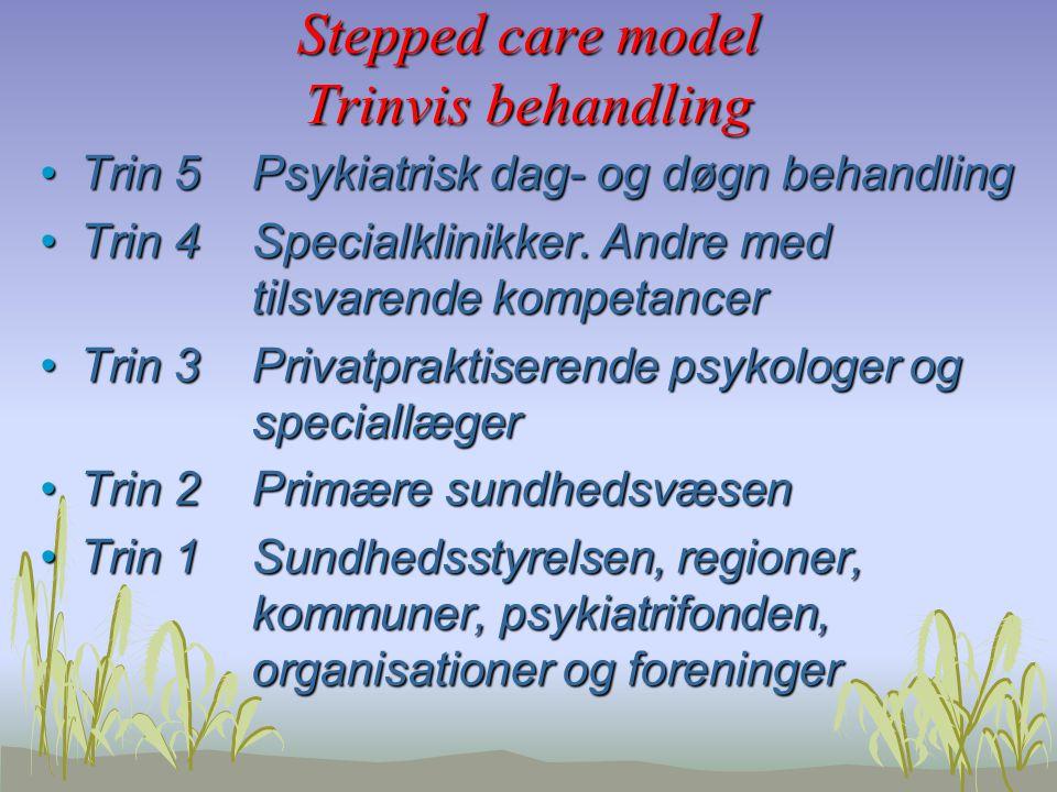 Stepped care model Trinvis behandling