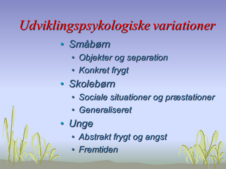 Udviklingspsykologiske variationer