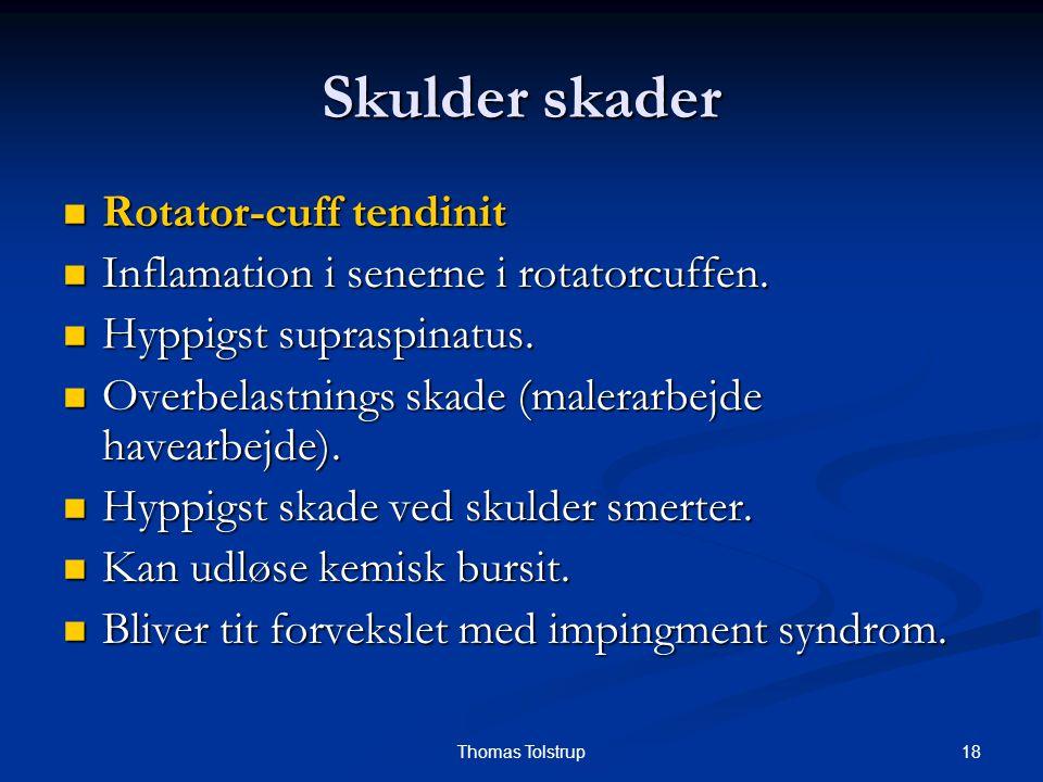 Skulder skader Rotator-cuff tendinit