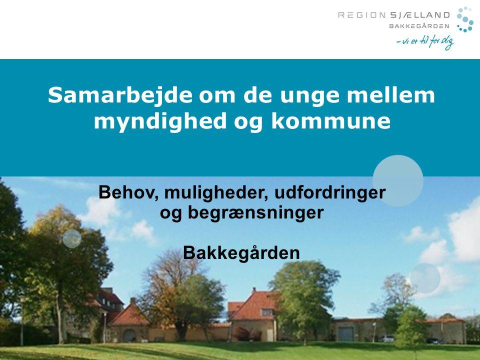 Samarbejde om de unge mellem myndighed og kommune