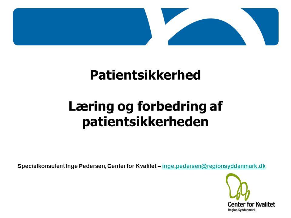Læring og forbedring af patientsikkerheden