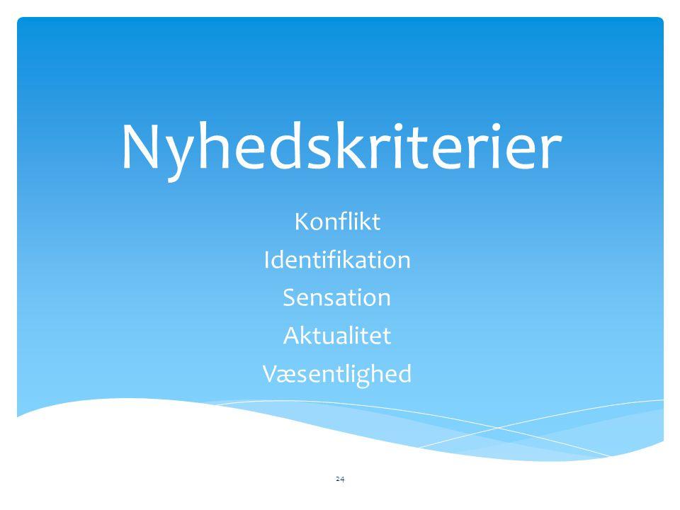 Konflikt Identifikation Sensation Aktualitet Væsentlighed