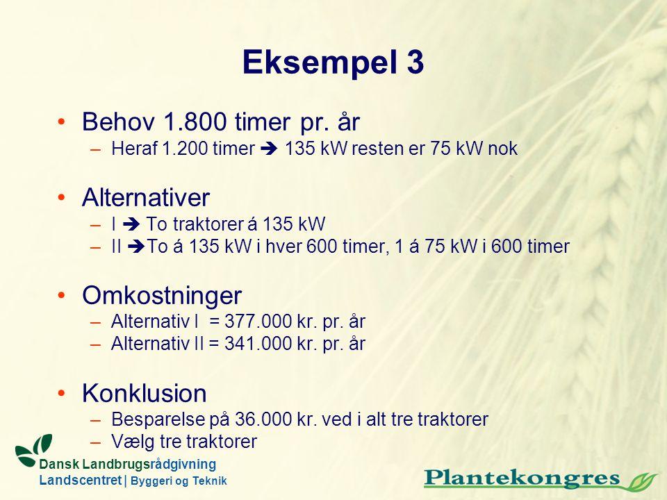 Eksempel 3 Behov 1.800 timer pr. år Alternativer Omkostninger