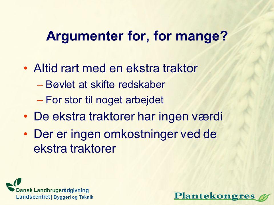Argumenter for, for mange