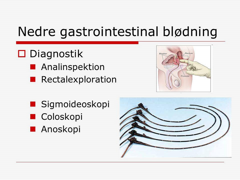 Nedre gastrointestinal blødning