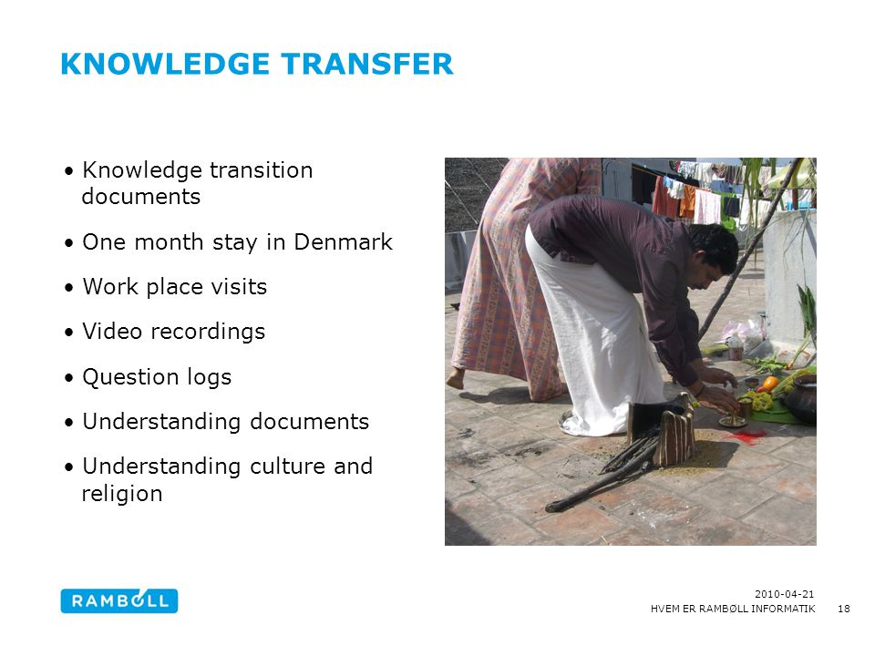 Knowledge transfer Knowledge transition documents