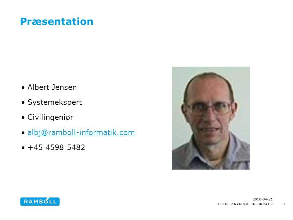 Præsentation Albert Jensen Systemekspert Civilingeniør