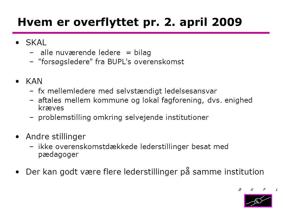 Hvem er overflyttet pr. 2. april 2009