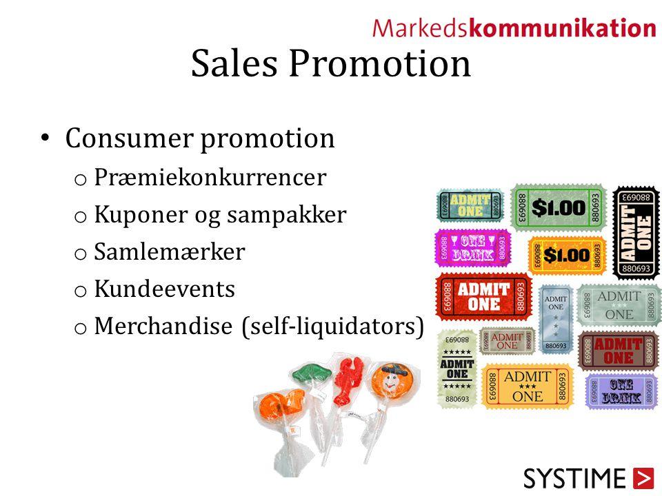 Sales Promotion Consumer promotion Præmiekonkurrencer