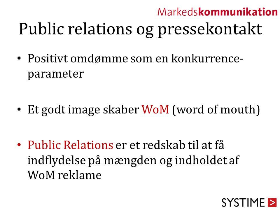 Public relations og pressekontakt