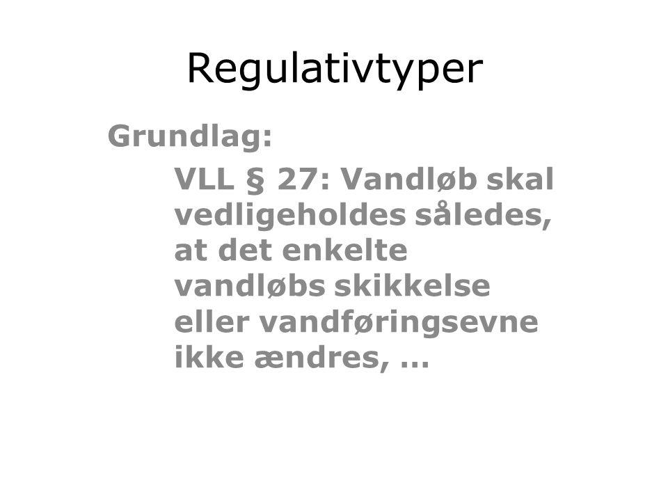 Regulativtyper Grundlag: